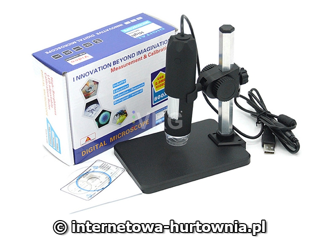 Mikroskop cyfrowy usb 8 led smd 800x lupa zoom chh.pl