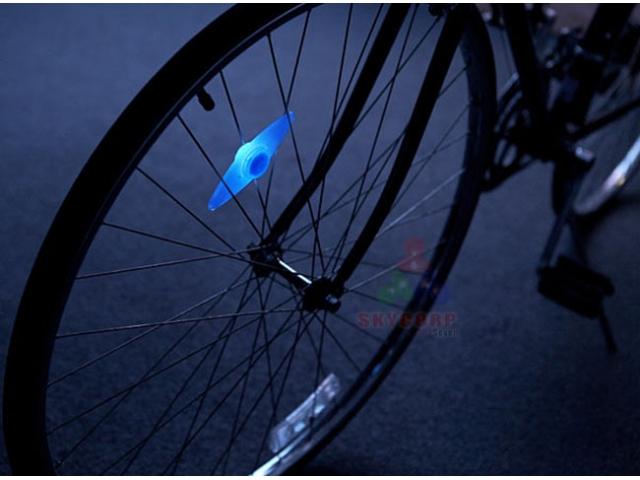 Lampka Led Na Szprychy Rowerowe Neon Niebieskie H2