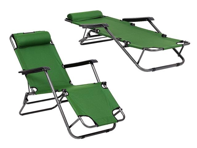Leżak Ogrodowy Plażowy Składany Fotel Kolory