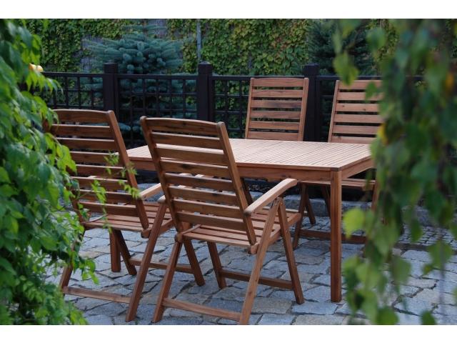 Meble Ogrodowe Drewniane Niepołomice : Meble ogrodowe drewniane KROKOSZ zestaw