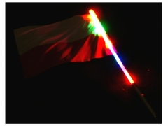 polska flaga - świecąca 0803