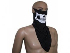 Kominiarka. maska, chusta czaszka na motor, narty