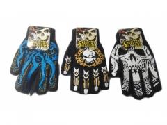 Rękawiczki kościotrup - czaszka
