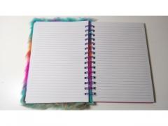 Notes włochaty pluszowy 22,5 cm x 17 cm