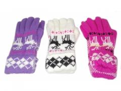 Rękawiczki zimowe wzór norweski - różne kolory