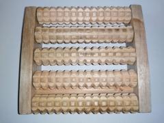 Masażer drewniany 5 wałków