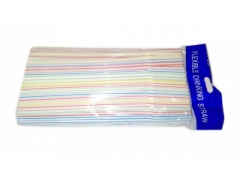 Słomki rurki 100 szt kolorowe