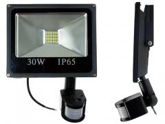 HALOGEN LED 30W SMD + CZUJNIK NAŚWIETLACZ LAMPA