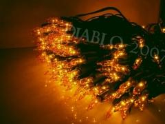 Lampki Choinkowe 100 gruby kabel żółte