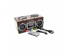 RADIO RETRO PRZENOŚNY GŁOŚNIK MP3 SD USB PILOT HIT