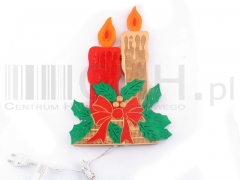 Ozdoba świąteczna świeczki GS35