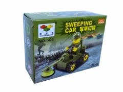 Klocki mini SWEEPING CAR zabawka pasują z LEG0
