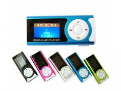 Odtwarzacz mp3 lcd klips radio fm latarka led