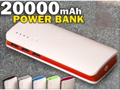 POWER BANK 20000mAh Z LATARKĄ 3xUSB
