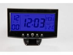 ZEGAR ELEKTRONICZNY LCD BUDZIK TERMOMETR