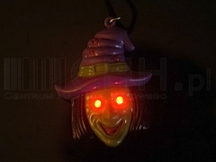 Wisiorek świecąco-grający Halloween