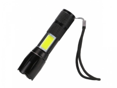 Latarka taktyczna LED COB zoom cree micro usb 13cm