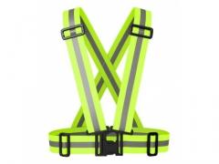 Odblaskowe pasy szelki na motor rower - elastyczne
