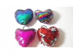 Brelok serce cekin - różne kolory