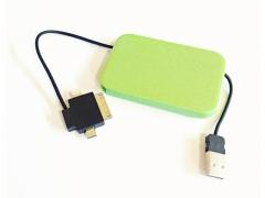 Ładowarka usb etui kabel 3w1 micro USB iPh4 4G