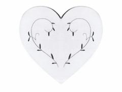 Serce drewniane BIAŁE dekoracja decoupage 7cm