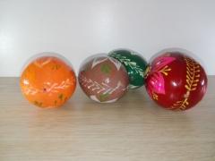 Jajko drewniane dekoracyjne pomalowane