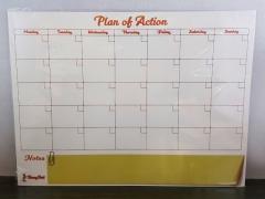 Tablica magnetyczna do pisania A3 ścieralna plan
