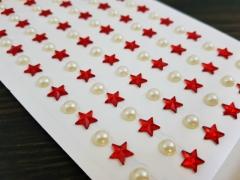Naklejki dekoracyjne gwiazdki i perełki