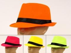 Kapelusz fedora kapelusze neonowe capone impreza