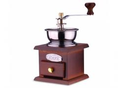 Młynek ręczny do kawy przypraw ziół drewniany
