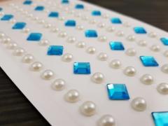 Naklejki dekoracyjne diamenciki i perełki