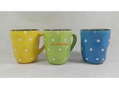 Kubek ceramiczny - różne kolory i wzory