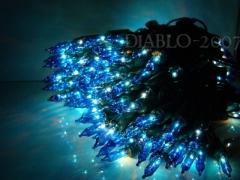 Lampki Choinkowe 200 gruby kabel niebieskie