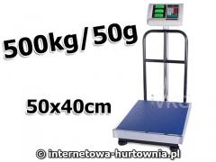 WAGA MAGAZYNOWA PLATFORMA 40x50 OPARCIE 500kg/50g