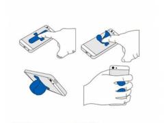 Automatyczna podstawka uchwyt do telefonu silikon