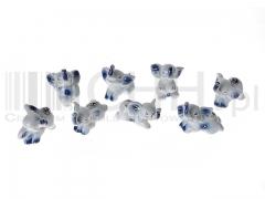 Słoniki porcelanowe  - komplet 8 figurek