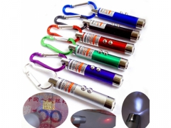 Latarka brelok laser tester UV z karabińczykiem