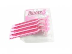 Golarki do golenia różowe 4 szt