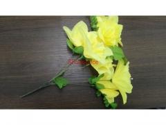 Kwiaty sztuczne 7szt żonkil