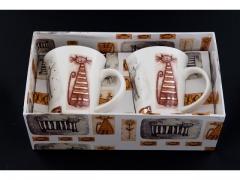 DUO Zestaw 2 kubki 250 ml kolekcja koty