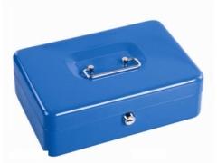 Kasetka na pieniądze 250x180x90mm niebieska