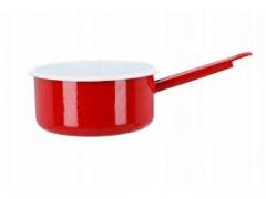 Rondel emaliowany 18 cm czerwony 2,2 l EMALIA FORT