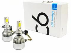 Zestaw LED COB H7 C6 72W 7600 lm żarówki DZIEŃ/NOC