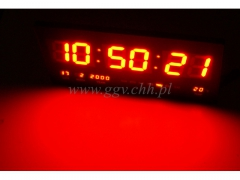 Zegar scienny LED 3754r/24