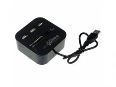 Hub 3x USB 2.0 czytnik kart