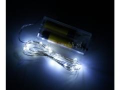 Lampki LED drucik WHITE 9114W/100