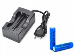 Ładowarka Baterii 18650 + 2 x AKUMULATOR 8800mAh