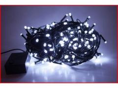 Lampki Choinkowe LED 100 programator białe zimne