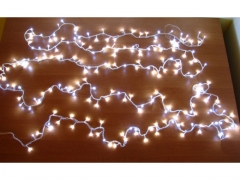 LAMPKI CHOINKOWE 100 LED BIAŁE 5M