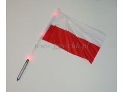 SUPER CENA- polska flaga - świecąca 0803